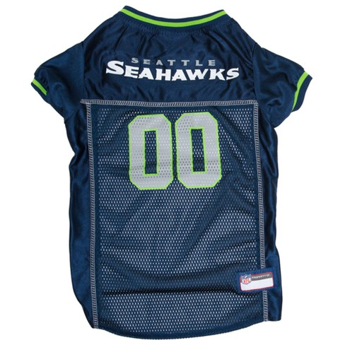 eaecf192c Seattle Seahawks Pets First Mesh Pet Football Jersey - Navy XS   Target