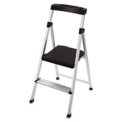 Rubbermaid Lightweight Aluminum Step Stool with Project Top, 2-Step