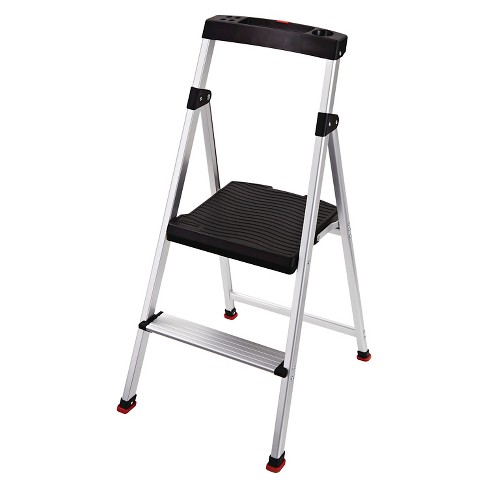 Brilliant Rubbermaid Lightweight Aluminum Step Stool With Project Top 2 Step Machost Co Dining Chair Design Ideas Machostcouk