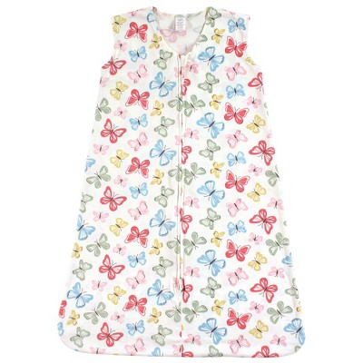 Touched by Nature Baby Girl Organic Cotton Sleeveless Wearable Sleeping Bag, Sack, Blanket, Butterflies