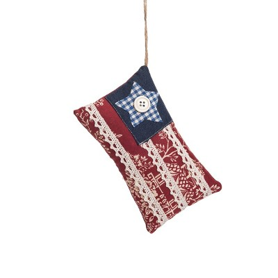 Gallerie II Cottage Flag July 4th Ornament