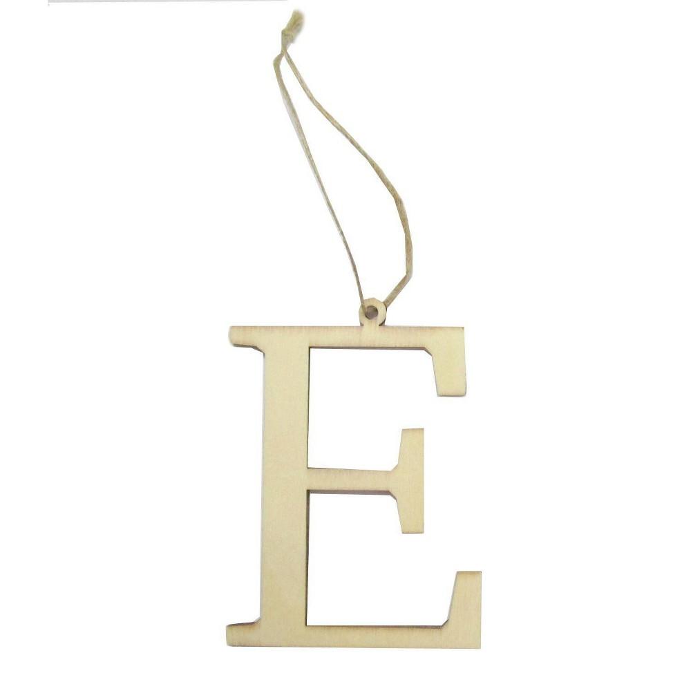 Monogram Letter E Gift Tag Spritz 8482