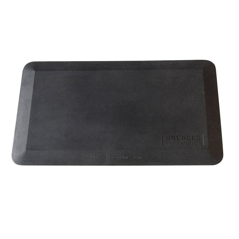 "Image of ""20""""x34"""" Cushioned Standing Mat Black - Uncaged Ergonomics"""
