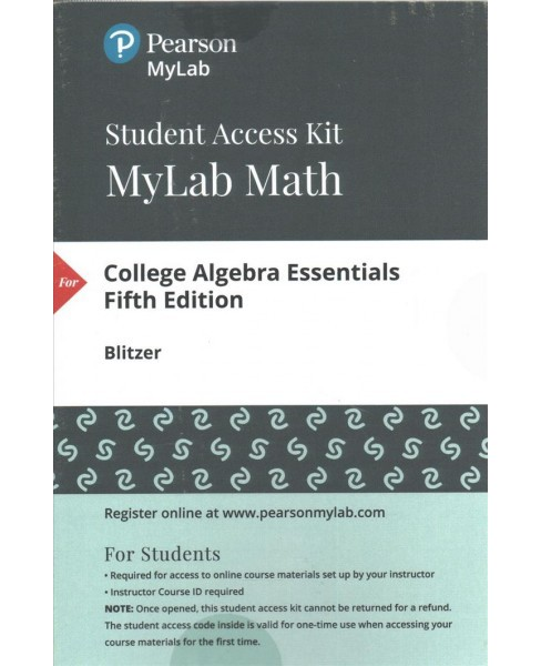 MyMathLab with Pearson eText Standalone Access Card for College Algebra Essentials (Hardcover) (Robert - image 1 of 1