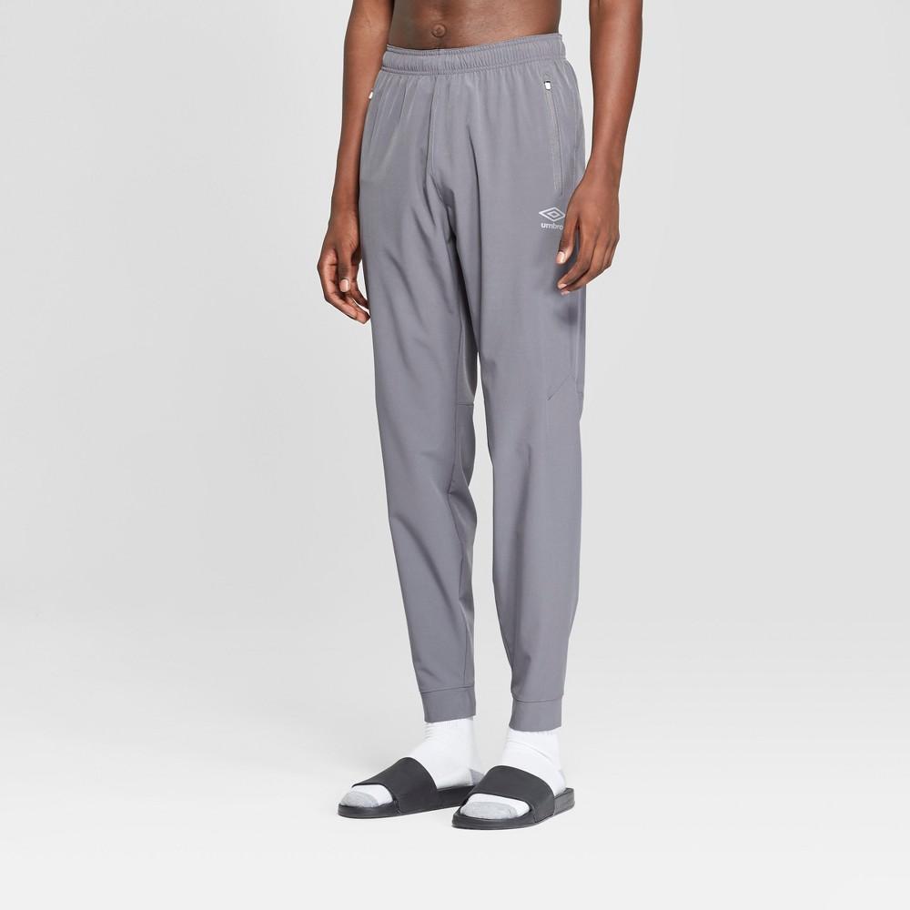 Umbro Men's Stretch Woven Jogger Training Pants - Industrial Grey M