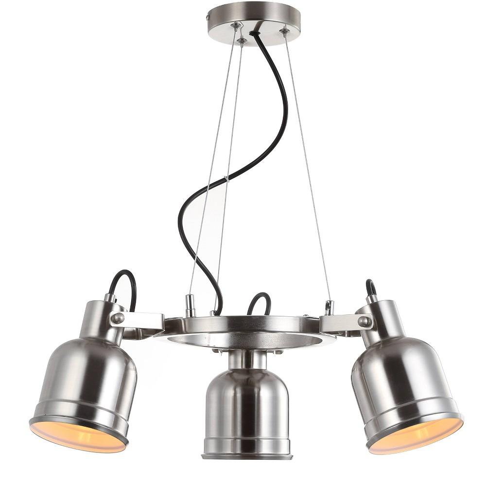 20 Liam 3 Light Metal Led Pendant Brushed Nickel (Includes Energy Efficient Light Bulb) - Jonathan Y