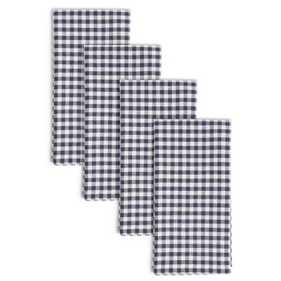 4pk Cotton Gingham Woven Napkins - Town & Country Living