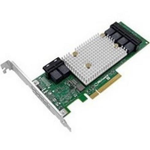 Microsemi HBA 1100-24i Adapter - 12Gb/s SAS - PCI Express 3.0 x8 - Plug-in Card - 24 Total SAS Port(s) - 24 SAS Port(s) Internal - PC, Linux - image 1 of 1