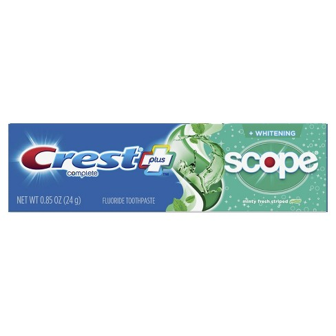 Crest + Scope Complete Whitening Toothpaste Minty Fresh - 0.85 oz - image 1 of 4