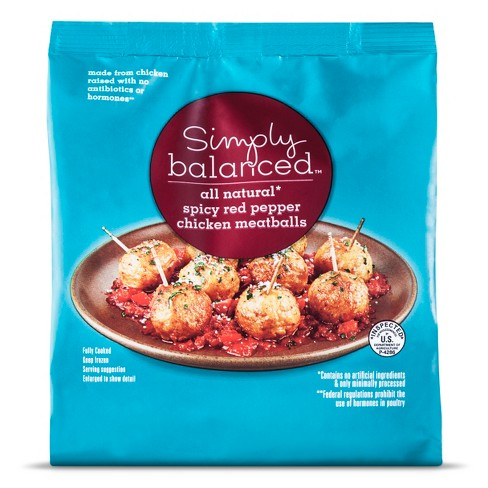 Spicy Red Pepper Chicken Meatballs - 20oz - Simply Balanced™ - image 1 of 1