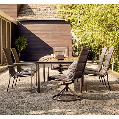 Avalon 7pc Sling & Steel Patio Dining Set - Project 62™