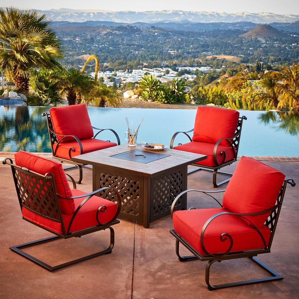5pc Sienna Firepit Seating Set - Royal Garden, Brown