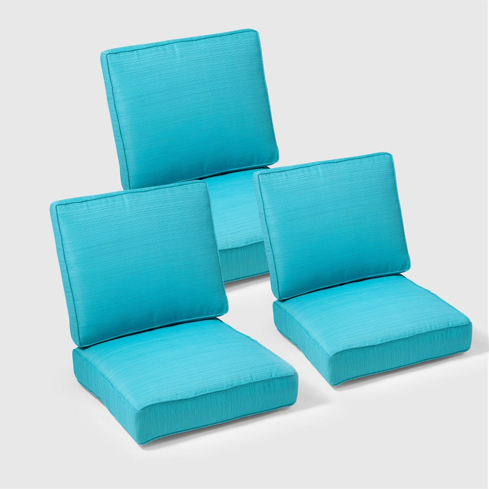 Pleasing Belvedere 6Pc Replacement Outdoor Sofa Cushion Set Turquoise Onthecornerstone Fun Painted Chair Ideas Images Onthecornerstoneorg