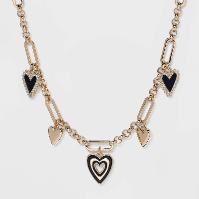 SUGARFIX by BaubleBar Heart Charm Link Chain Necklace