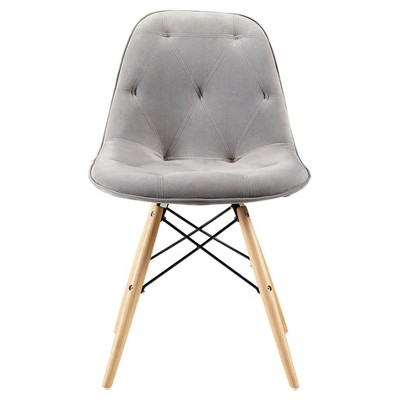 Grey Upholstered Eames Dining Kitchen Chairs - Set Of 2 - Saracina Home  Target  sc 1 st  Target & Grey Upholstered Eames Dining Kitchen Chairs - Set Of 2 - Saracina ...