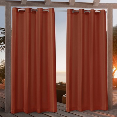 Canvas Grommet Top Light Filtering Window Curtain Panels - Nicole Miller