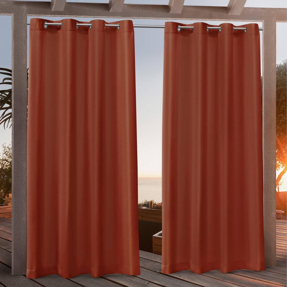 108 34 X54 34 Canvas Grommet Top Light Filtering Window Curtain Panels Orange Nicole Miller