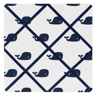 Navy Whale Photo Memo Board (13 x13 )- Sweet Jojo Designs