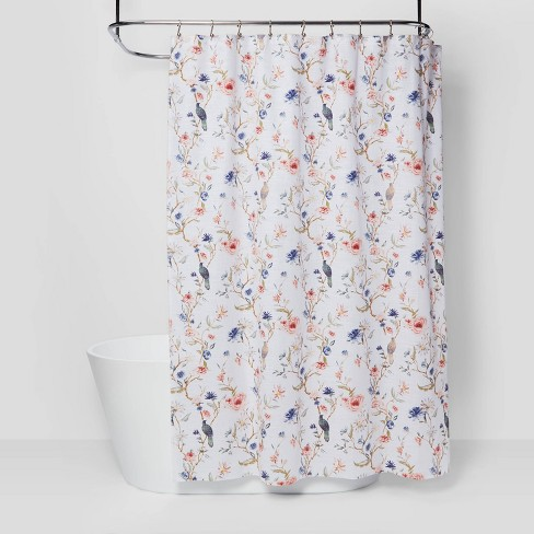 Floral/Bird Shower Curtain - Threshold™ - image 1 of 4