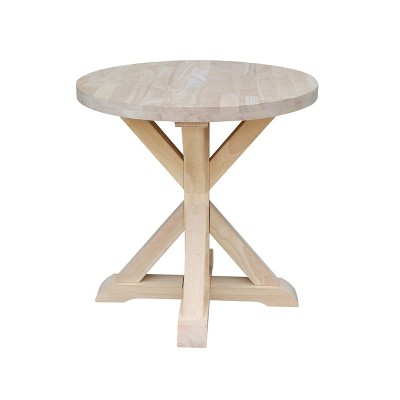 Sierra Round End Table Unfinished - International Concepts