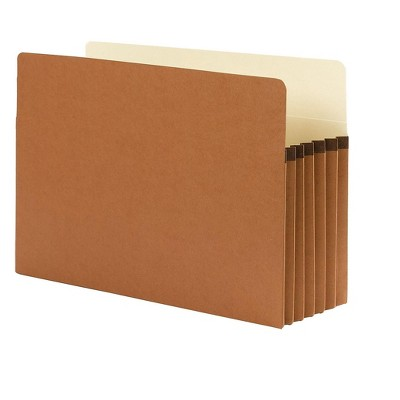"""Smead Paper Stock File Pocket 5.25"""" Expansion Legal Size Redrope 575549"""