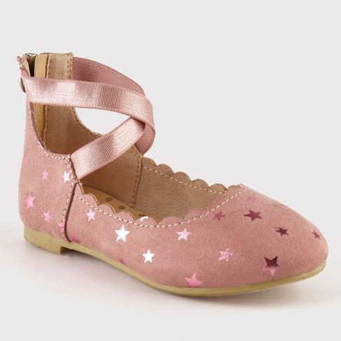 Toddler Girls' Reyce Ankle Strap Ballet - Cat & Jack™ Pink 5 - image 1 of 3
