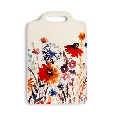 DEMDACO Meadow Flowers Cheese Board White