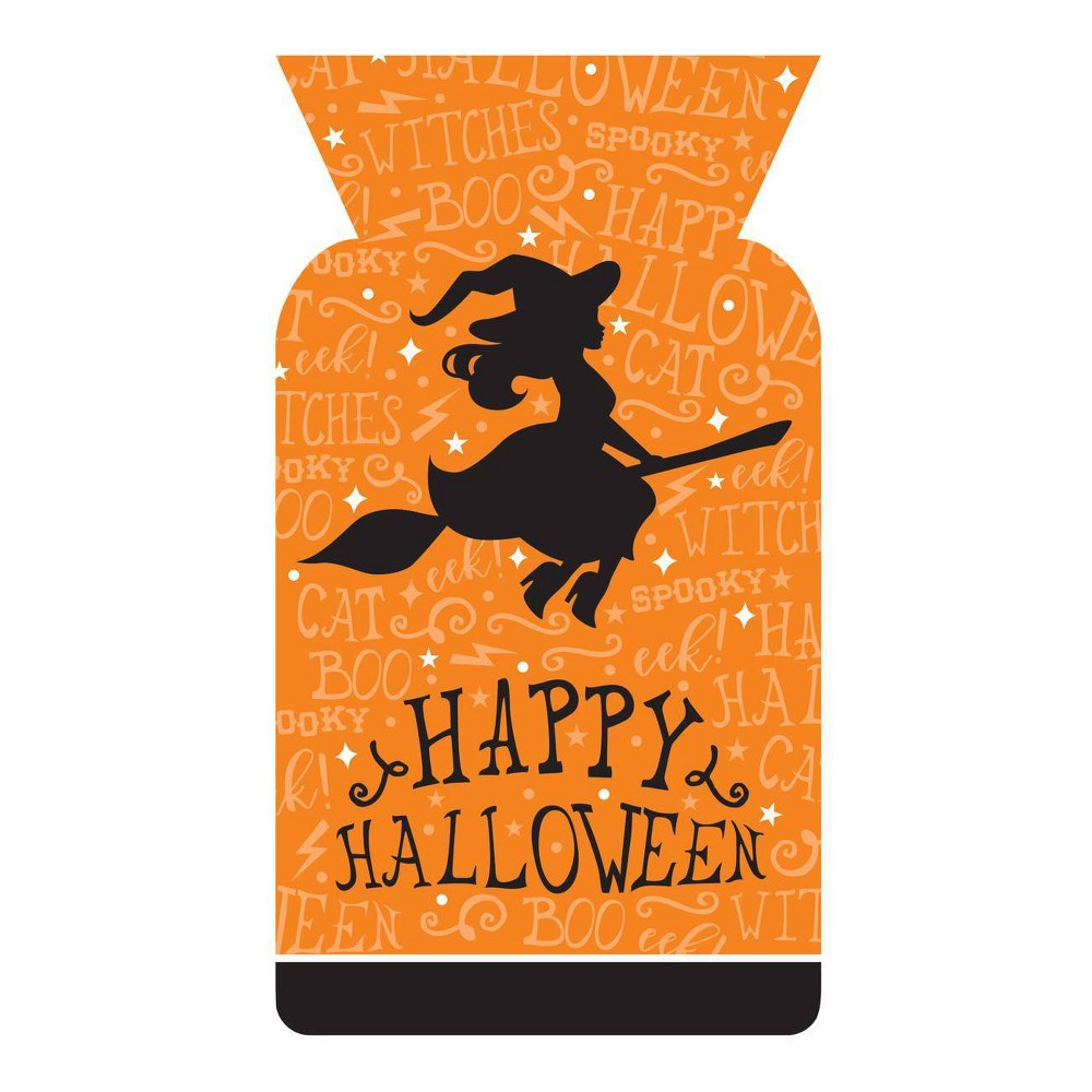 40ct Halloween Witch Cello Bags