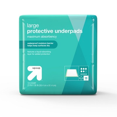Protective Bed Underpads - Maximum Absorbency - Large - 18ct - up & up™