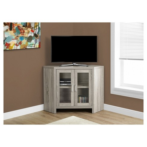 Corner Tv Stand With Glass Doors Everyroom Target