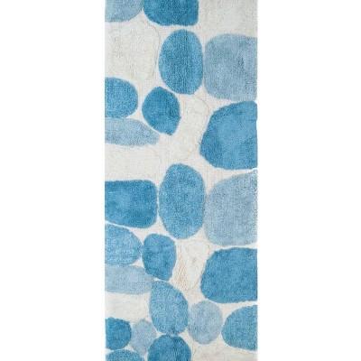 """Pebbles Bath Rug Runner Aqua & Cream (24""""X60"""")- Chesapeake Merch Inc."""
