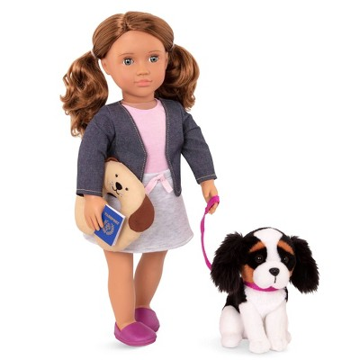 "Our Generation 18"" Doll & Pet Travel Set - Maddie with Plush Dog"