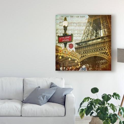 "18"" x 18"" Eiffel Romance Vi by Sandy Lloyd - Trademark Fine Art - image 1 of 2"