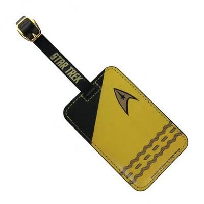 Crowded Coop, LLC Star Trek Gold Uniform Luggage Tag
