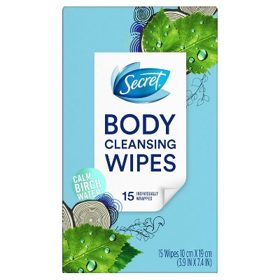 Secret Body Cleansing Deodorant Wipes