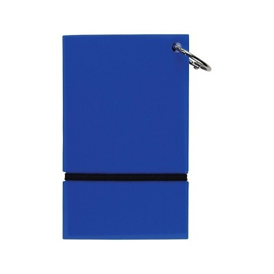 """Staples Ruled Index Cards on a Ring Blue Poly Cover 3"""" x 5"""" TR21580"""