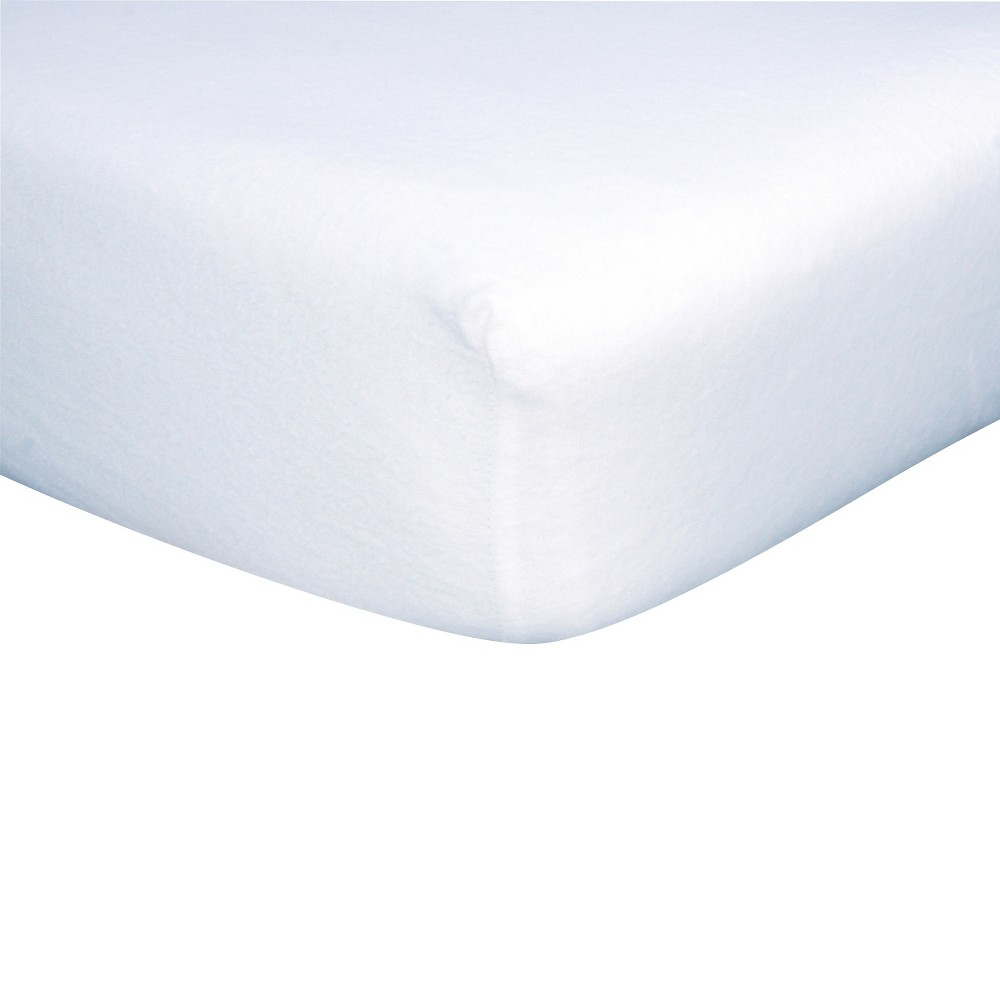 Trend Lab White Flannel Fitted Crib Sheet