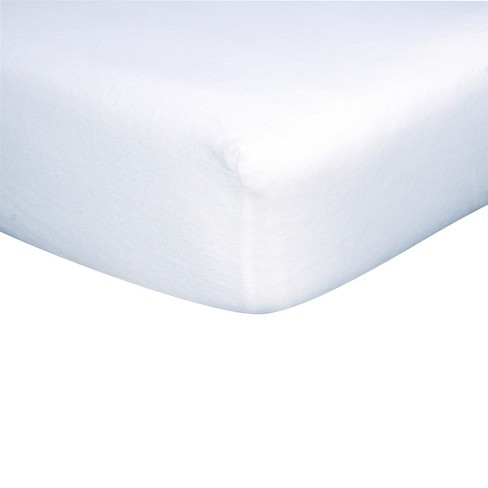 White Flannel Fitted Crib Sheet - image 1 of 2