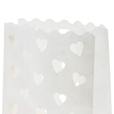 Juvale 24-Pack White Tea Light Candle Luminary Bags for Weddings, Party Favors Decoration, 10x6x3.5 In