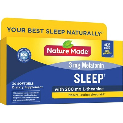 Sleep Aids: Nature Made Melatonin with L-Theanine