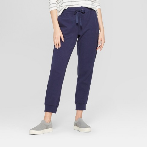 fdb4f0fc62a2a Women s Ankle Length Knit Jogger Pants - A New Day™ Navy L   Target