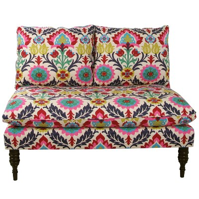 Custom Upholstered Armless Loveseat - Skyline Furniture