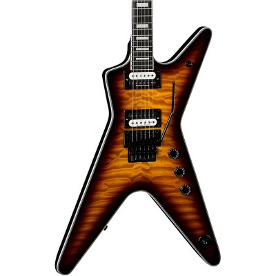 Dean ML Select Floyd Quilt-top Electric Guitar Transparent Brazilia