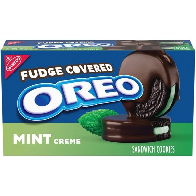 Oreo Fudge Covered Mint Creme  Chocolate Sandwich Cookies - 9.9oz