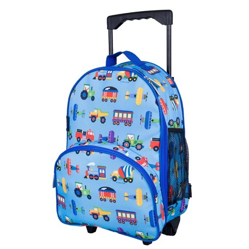"""WildKin 34"""" Olive Kids' Rolling Carry On Suitcase - Trains-Planes & Trucks - image 1 of 4"""