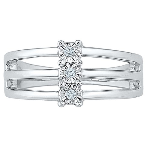 Diamond Accent Round White Diamond Three Stone Ring in Sterling Silver (I-J,I2-I3) - image 1 of 2