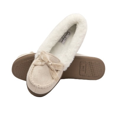 Jessica Simpson WoMens Micro-Suede Moccasin with Velvet Bow