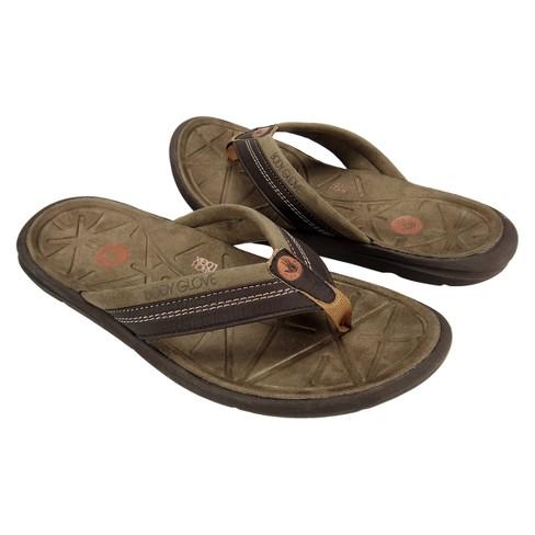 cb3ba95cbc1e Men s Body Glove Quest Flip Flop Sandals - Brown 10   Target