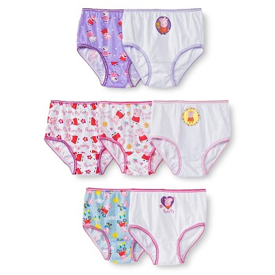 Toddler Girls' Peppa Pig 7pk Briefs - 2T-3T