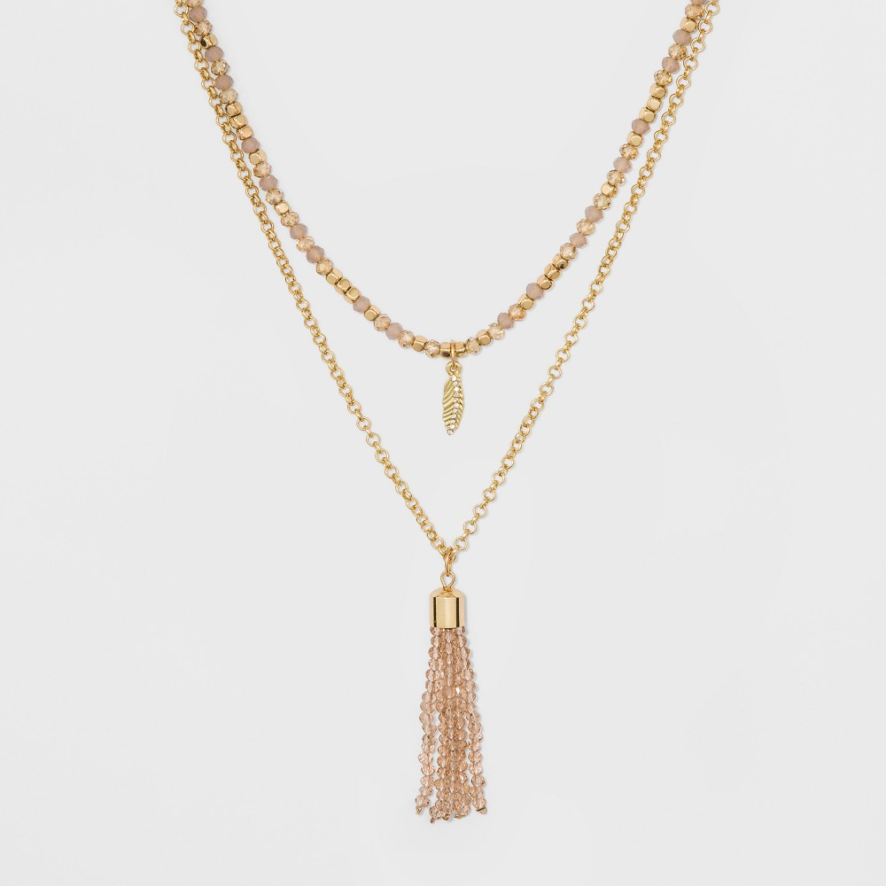 Sugarfix by BaubleBar Layered with Tassel Necklace - Gold, Girl's